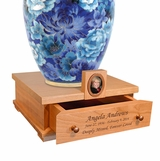 Heirloom Cherry Wood Cremation Urn Pedestal