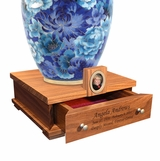 Heirloom Walnut Wood Cremation Urn Pedestal