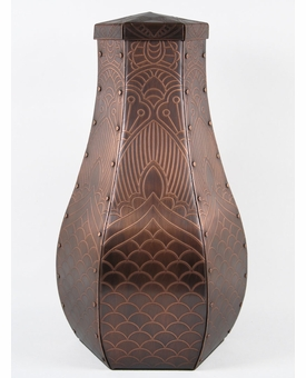 Henna Custom Handcrafted Copper Cremation Urn