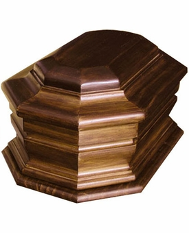 Honor Cremation Urn in Radiata and Oak Wood