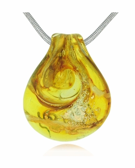Hope Cremains Encased in Glass Cremation Jewelry Pendant