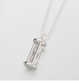 Hour Glass Sterling Silver Keepsake Memorial Necklace Pendant