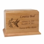Hummingbird Ambassador Solid Cherry Wood Cremation Urn