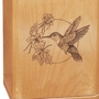 Hummingbird Classic Maple Wood Cremation Urn