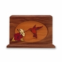 Hummingbird Dimensional Wood Cremation Urn - Engravable