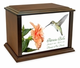 Hummingbird Eternal Reflections Wood Cremation Urn - 3 Sizes