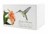 Hummingbird Eternal Reflections II Wood Cremation Urn - 5 Urn Choices