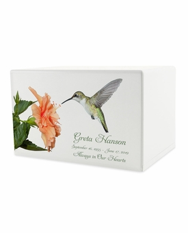 Hummingbird Eternal Reflections Wood Cremation Urn - 5 Urn Choices