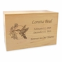 Hummingbird Solid Maple Wood Cremation Urn