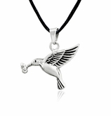Hummingbird Stainless Steel Cremation Jewelry Pendant Necklace