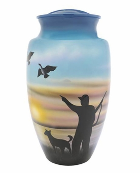 Hunters Solitude Hand Painted Cremation Urn