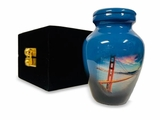 I Left My Heart Keepsake Picture Cremation Urn