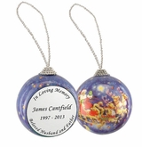 In Loving Memory Santa and Sleigh Memorial Holiday Tree Ornament