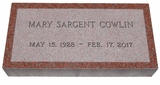 India Red Granite Cemetery Grave Marker