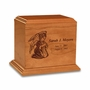 Infant Angel - Wood Infant Cremation Urn - Engravable
