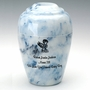 Infant Boy Sapphire Grecian Cremation Urn - Engravable