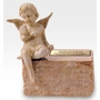 Infant Cream Marble With Angel Cremation Urn