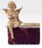 Infant Ruby Marble With Angel Cremation Urn
