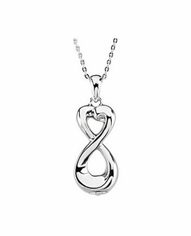 Infinite Love Sterling Silver Cremation Jewelry Necklace