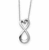 Infinite Love Sterling Silver Memorial Jewelry Pendant