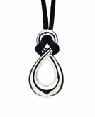 Infinity Polished Sterling Silver Cremation Necklace Pendant