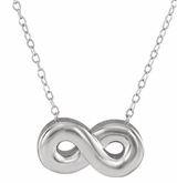 Infinity Sterling Silver Cremation Jewelry Necklace