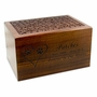 Jumbo Carved Sheesham Wood Pet Cremation Urn