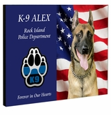 K9 Dog Custom Photo Eternal Reflections Wood Memorial Wall Plaque