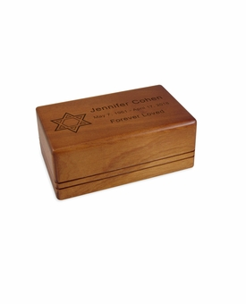 Keepsake Economy Mahogany Wood Cremation Urn