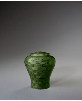 Keepsake Lily Green Wood Cremation Urn