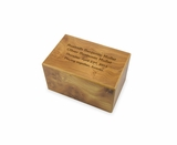Keepsake Natural Finish MDF Wood Cremation Urn