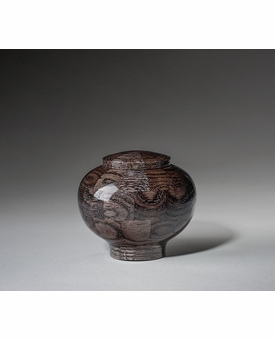 Keepsake Peony Black Wood Cremation Urn