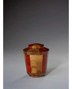 Keepsake Trinity Black Walnut and Padauk Wood Cremation Urn