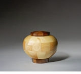 Keepsake Truth Maple and Black Walnut Wood Cremation Urn