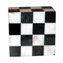 Kingdom Black and White Marble Mosaic Keepsake Cremation Urn