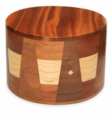 Kirby Round Hand-Crafted African Mahogany Hardwood Cremation Urn
