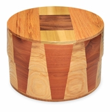 Kirby Round Hand-Crafted Hardwood Cremation Urn