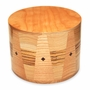 Kirby Round Hand-Crafted Maple Zebrawood Cremation Urn
