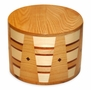Kirby Round Hand-Crafted Oak-Top Hardwood Cremation Urn