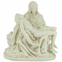 La Pieta Cherry Wood and Cold Cast White Alabaster Resin Cremation Urn