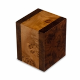 Labarde Maple with Walnut Wood Small Cremation Urn