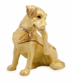 Labrador Dog Jeweled Keepsake Cremation Urn