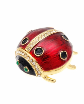 Ladybug Jeweled Keepsake Cremation Urn