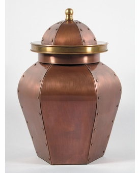 Lafayette Custom Handcrafted Copper Cremation Urn