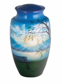 Lakeside Memories Hand Painted Cremation Urn