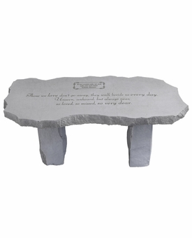 Large Bench Those We Love Fused Glass Memorial Garden Stone