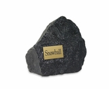 Large Black Rock Pet Cremation Urn