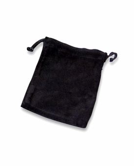 Large Black Velvet Cremains Bag For Ashes