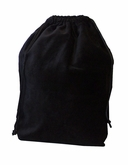 Large Black Velvet Cremation Urn Bag