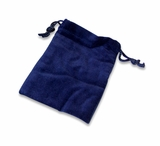 Large Blue Velvet Cremains Bag For Ashes